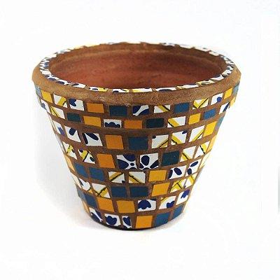 Vaso Cerâmica Mosaico