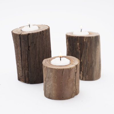 Trio de Velas - natural