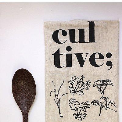 Pano de cozinha + Colher