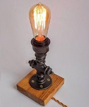 Luminária de mesa - industrial