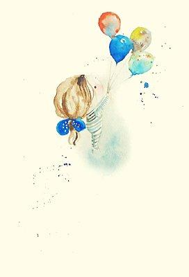 Poster Menina com Balões
