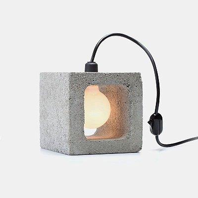 Luminária Concreto bloco único