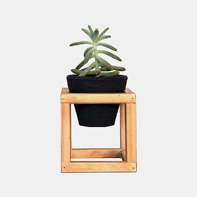 Suporte de Madeira + Vaso cerâmica Nº 1