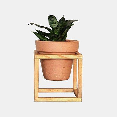 Suporte de Madeira + Vaso cerâmica Nº 3