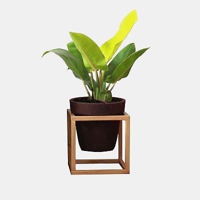 Suporte de Madeira + Vaso cerâmica Nº 4