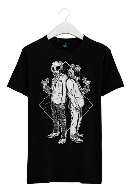Camiseta Estampada Daft Punk