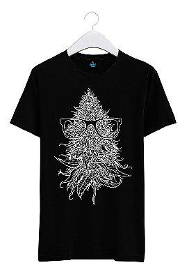Camiseta Estampada Cabeça de Maconha