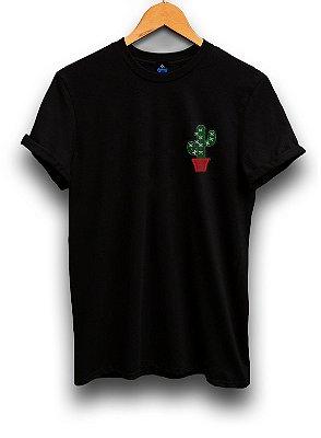 Camiseta Bordada Cacto