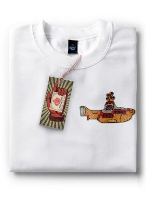 Camiseta Bordada The Beatles - Yellow Submarine