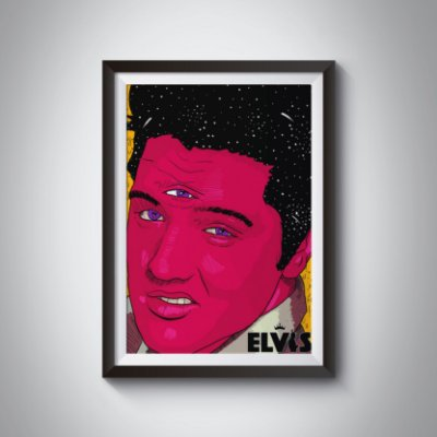 Quadro Decorativo Elvis Presley