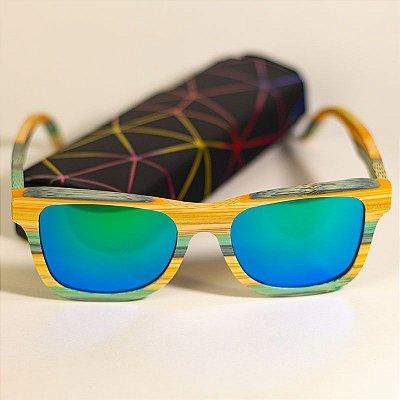 Óculos de Sol de Madeira Wayfarer Vespa-Cuco