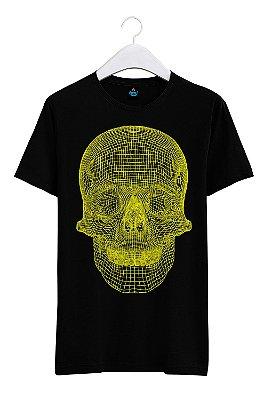 Camiseta Estampada Caveira 3D
