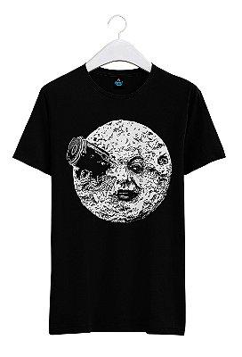Camiseta Estampada Viagem a Lua