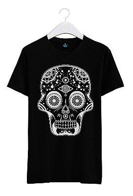 Camiseta Estampada Caveira Mexicana