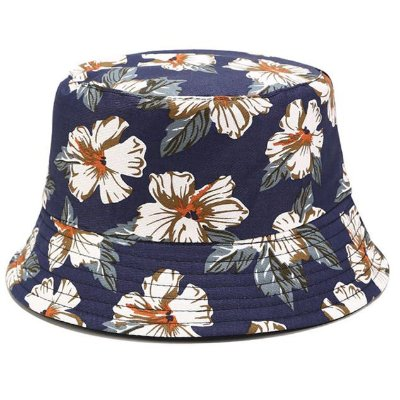 Bucket Hat Floral Azul