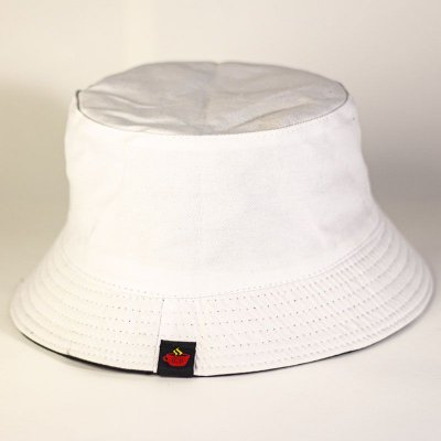 Bucket Hat Dupla Face Preto e Branco