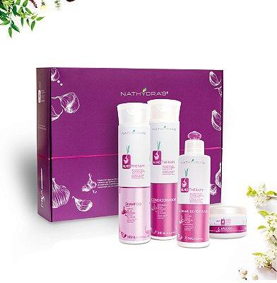 Kit Nathydra's Alho Therapy Reconstrução e Fortalecimento com 4 produtos - MSA Kosmetic