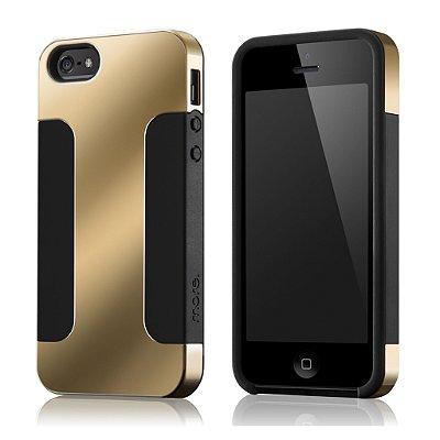 Para Duo Metal - Capa para iPhone SE e iPhone 5S + Película