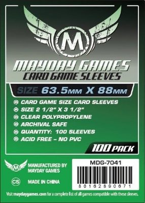 Card Game Card Sleeve (Pac. com 100) MAYDAY – 63,5x88mm