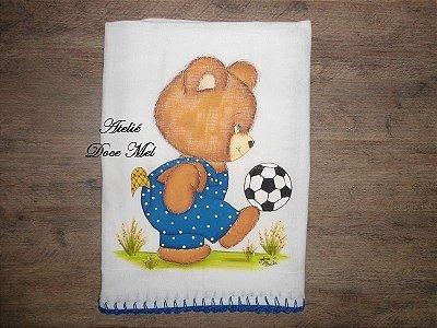 Fralda de Passeio para Meninos (Ursinho jogando bola)