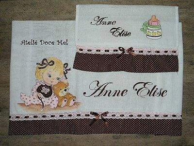 Kit de Fraldas Pintadas com nome do seu Bebê!!!