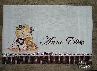 Fralda de Passeio com nome do seu bebê!