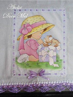 Fralda de Passeio Pintada para Meninas (Presente Fofo!)