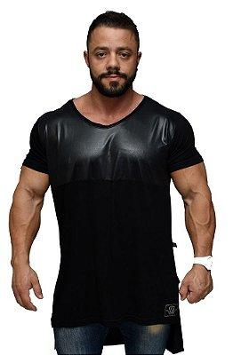 Camiseta Long Black Leather - Hardcore Line