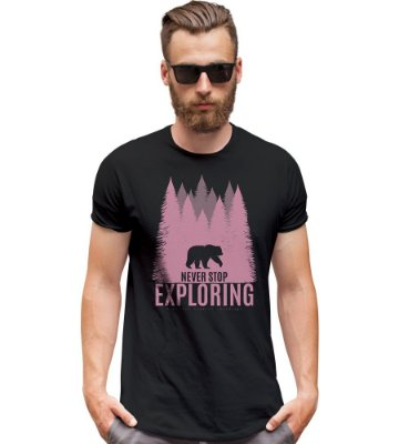 Camiseta Outdoor Never Stop Exploring