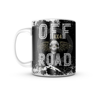 Caneca Off Road Skull 4x4 - 325ML