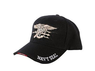 Boné Navy Seals Forças Especiais EUA Bordado Aba