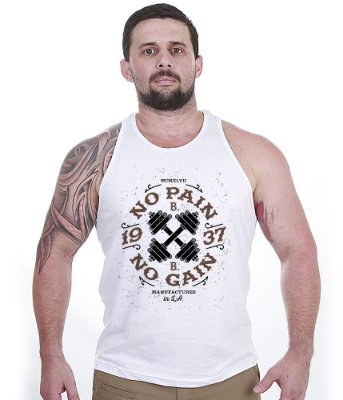 Camiseta Bodybuilder Iron No Pain No Gain - Camisetas Militares ... b694c85ac8e