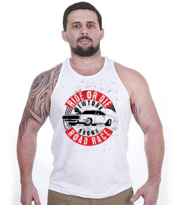 Camiseta Regata Old Cars Ride Or Die Bronx