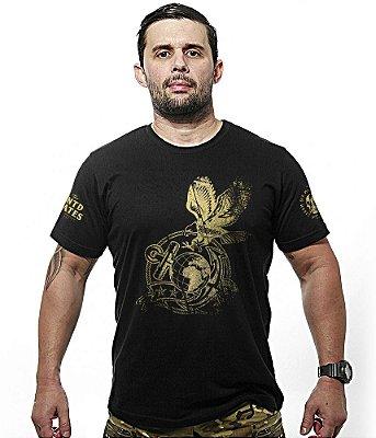 Camiseta Militar Marines Corp Gold Line