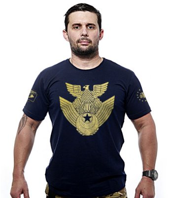 Camiseta Militar JASDF Japan Air Self-Defence Force Gold Line