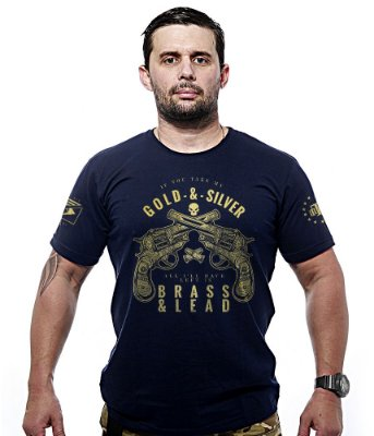 Camiseta Militar Gold & Silver Gold Line