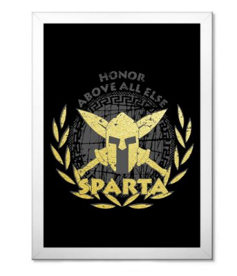 Poster Militar com Moldura SPARTA