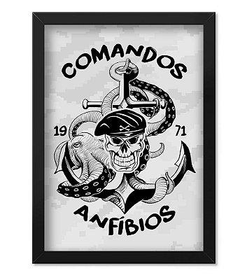 Poster Militar com Moldura Comandos Anfíbios