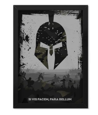 Poster Militar com Moldura Si vis Pacem para Bellum