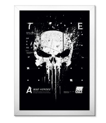Poster Militar com Moldura New Punisher