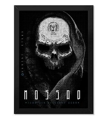 Poster Militar com Moldura Mossad