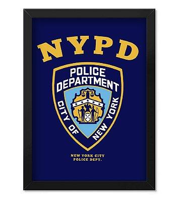 Poster Militar com Moldura NYPD Police