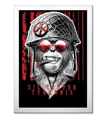Poster Militar com Moldura Sic Semper