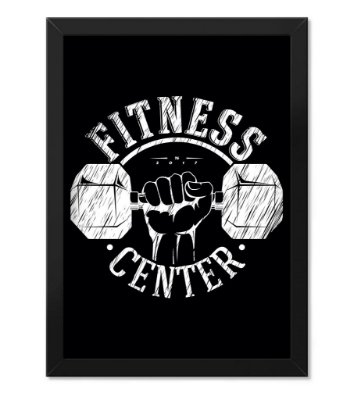 Poster Academia com Moldura Fitness Center