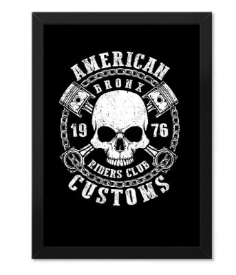 Poster com Moldura American Customs