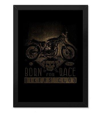 Poster com Moldura Born For Race