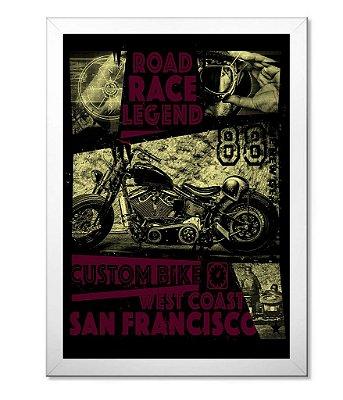 Poster com Moldura Road Race Legend