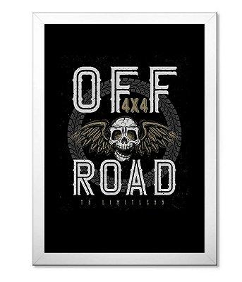 Poster com Moldura Off Road Skull 4x4