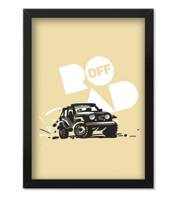 Poster com Moldura Off Road Cream