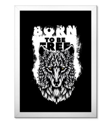 Poster com Moldura Outdoor Born To Be Free